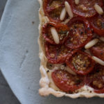 From my aunt's vegetable patch: Cherry tomato tart