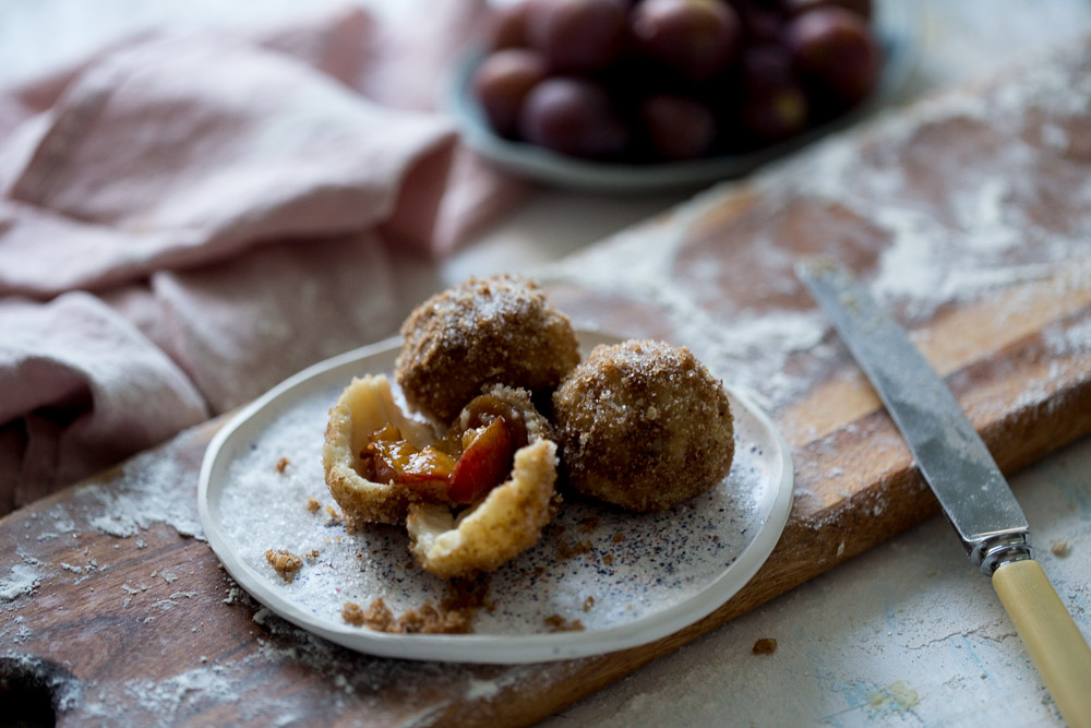 Croatian recipe Knedle Plum Dumplings