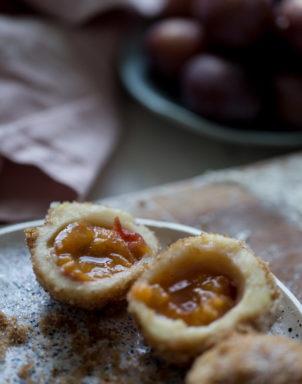 Croatian recipe Knedle Plum Dumplings