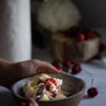 Cherry, strawberry and rose liqueur jam